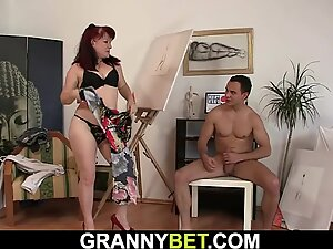 clean-shaved pussy woman in sexy lingerie rails his trunk