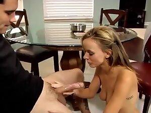 Stepmom hard blowjob deep-throat