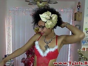 Spex ts ebony toying her tight ass