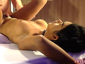 Asian Shemale Jessy Gives Blowjob And Ass Fucked