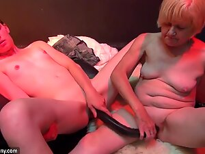 Old granny mature masturbae and gobbling youthful marvelous girl