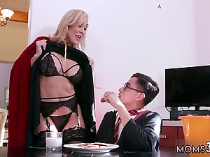 Big tit red head milf and mom sex robot Halloween Special With A Threesome - Big Red