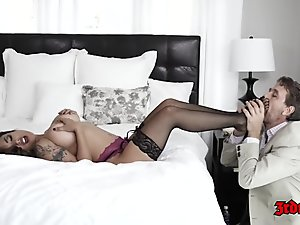 Hot Asian Kaylani Lei Loves To Ride A Huge Cock