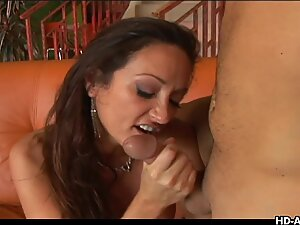 Gorgeous slut enjoying some hot sex with a guy
