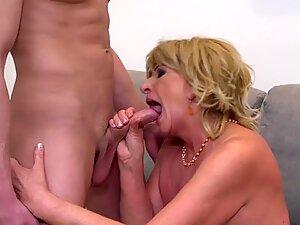 grandma hook-up Katalina seduce and ravage young boy