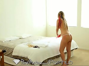 Pure Mature MILF sucks and gets fucked in both holes