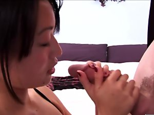 Asian chick needs a long cock