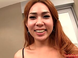 Ladyboy Nong Jumping On Raw Cock