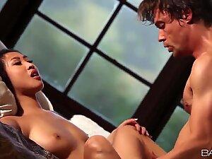 Leggy Asian girl Sharon Lee licked & banged